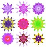 Set geometric colour Stock Photography