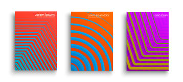 Set of geometric covers Stock Photo