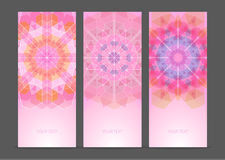 Set of geometric creative banners Stock Photography