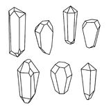 Set of geometric crystals. Geometric shapes. Trendy hipster background royalty free illustration