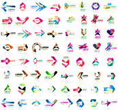Set of geometric design arrow icons. Logotype and brand templates. Vector illustration Stock Images