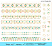 Set of geometric gold shapes and logotypes6548885111z3 Stock Image