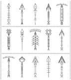 Set of geometric hipster arrows11 Royalty Free Stock Photos