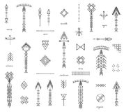 Set of geometric hipster shapes and arrows Royalty Free Stock Photo