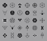 Set of geometric hipster shapes14 Stock Photography