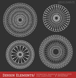 Set of geometric hipster shapes and logotypes6547black Royalty Free Stock Photo