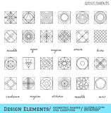 Set of geometric hipster shapes and logotypes65488117 Stock Image