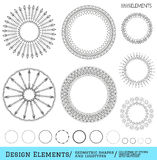 Set of geometric hipster shapes and logotypes654 Stock Photography