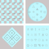 Set of geometric hipster shapes4 Royalty Free Stock Photo