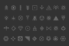 Set of geometric hipster shapes8 Stock Photos
