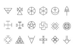 Set of geometric hipster shapes11 Stock Photo