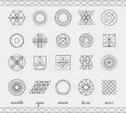 Set of geometric hipster shapes45 Stock Images