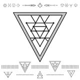 Set of geometric hipster shapes 9zn72211 Royalty Free Stock Photos
