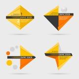 Set of geometric info-graphic design elements Stock Photography