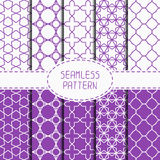 Set of geometric lattice seamless arabic pattern Stock Image