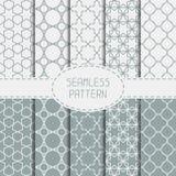Set of geometric line lattice seamless arabic Stock Photography