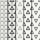 Set of geometric line monochrome abstract hipster seamless pattern with triangle. Wrapping paper. Scrapbook paper Stock Image