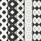 Set of geometric line monochrome lattice seamless arabic pattern. Islamic oriental style. Wrapping paper. Scrapbook Royalty Free Stock Photography