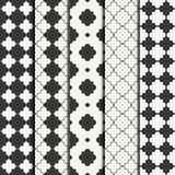 Set of geometric line monochrome lattice seamless arabic pattern. Islamic oriental style. Wrapping paper. Scrapbook Royalty Free Stock Image