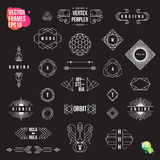 Set of geometric logotypes, frames, signs, emblems and badges Stock Photography