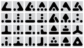 Set of geometric marks - vector Stock Photography