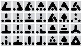 Set of geometric marks - vector vector illustration