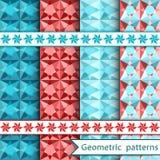 Set geometric ornamental patterns Royalty Free Stock Photography