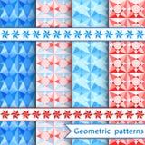 Set geometric ornamental patterns Royalty Free Stock Images