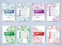 Set of geometric paper brochure Stock Photo