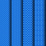 Set Geometric pattern blue. Stripes that can be used endlessly Stock Photo