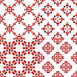 Set geometric pattern ornament object royalty free illustration