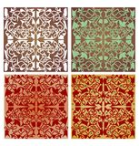 Set of geometric patterned tiles with art deco ornament Stock Photo