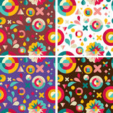 Set of geometric patterns ans backgrounds Stock Photos