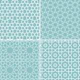 Set of geometric patterns in arabic style Royalty Free Stock Photography