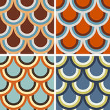 Set of geometric patterns Stock Photography