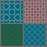 A set of geometric patterns. The collection of symmetric seamless patterns Royalty Free Stock Image