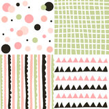 Set of geometric patterns Stock Photos