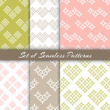 Set Of Geometric Patterns Royalty Free Stock Photography
