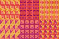 Set of geometric patterns issue 2 Stock Photos