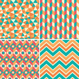Set of geometric patterns in retro style Stock Image