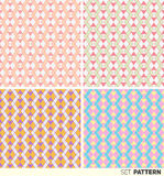 Set of geometric patterns. Set of seamless patterns geometric abstraction in pastel shades Stock Images