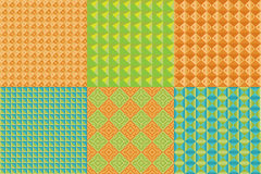 Set of geometric patterns Royalty Free Stock Image