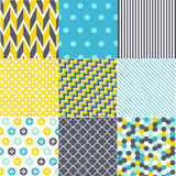 Set of geometric patterns Royalty Free Stock Photography