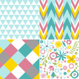 Set of geometric patterns Royalty Free Stock Photos