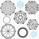 A set of geometric polygon shapes Stock Images