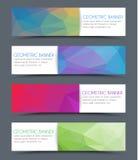 Set of geometric polygonal banner Royalty Free Stock Image