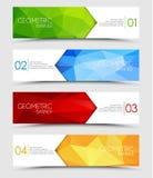 Set of geometric polygonal banners Stock Image