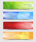Set of geometric polygonal banners Royalty Free Stock Image