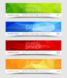 Set of geometric polygonal banners Royalty Free Stock Images