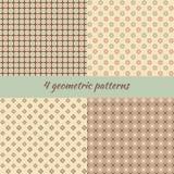 Set of geometric seamless pattern. Royalty Free Stock Image